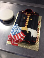 US Marine Corp Dress Blue with American Flag
